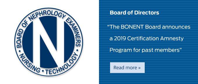 Certified Hemodialysis Technologist/Technician (CHT) | BONENT