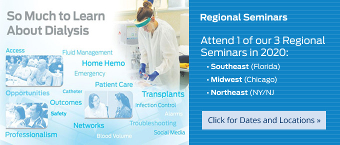 Attend 1 of our 3 Regional Seminars in 2020